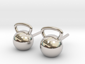 Kettlebelt Studs in Rhodium Plated Brass