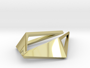 HIDDEN HEART Origami Opensolid, Pendant in 18k Gold Plated