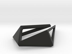 HIDDEN HEART Origami OS, Pendant. Sharp Chic in Black Natural Versatile Plastic