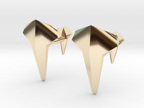 AERO Cufflinks. Individual Elegance in 14K Yellow Gold