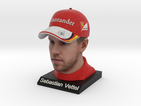 Sebastian 1/4 Head Figure in Full Color Sandstone