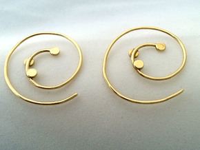 EARRINGS SPIRAL in Polished Brass