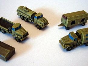 KRaZ 260 Trucks 1/285 6mm in Smooth Fine Detail Plastic