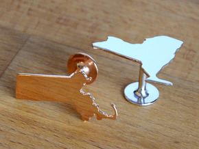 Cufflinks - Choose Any State (Wisconsin) in 14k Rose Gold Plated Brass