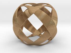 0403 Spherical Cuboctahedron (d=6cm) #003 in Polished Brass