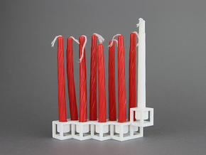 Framework menorah in White Strong & Flexible Polished