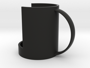 Mug Support in Black Natural Versatile Plastic