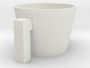Cup Sleeve for coffee cups.  in White Natural Versatile Plastic