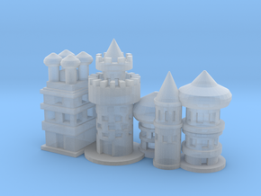 Oriental City for Diorama in Frosted Ultra Detail