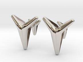 YOUNIVERSAL Smooth & Sharp Cufflinks.  in Rhodium Plated Brass