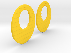 Earring Model R in Yellow Processed Versatile Plastic
