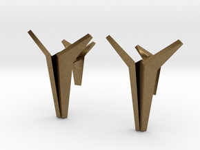 YOUNIVERSAL Origami Cufflinks in Natural Bronze