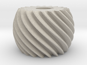 Convex helical gear in Natural Sandstone