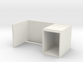 Miniature Malm Desk - IKEA in White Natural Versatile Plastic: 1:24