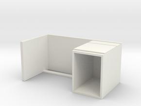Miniature Malm Desk - IKEA in White Natural Versatile Plastic: 1:24