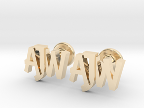 Personalised monogrammed cufflinks in 14k Gold Plated Brass