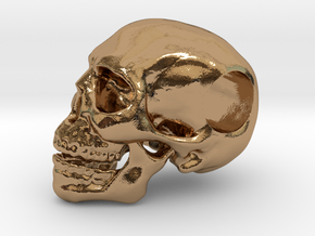 Hope Skull in Polished Brass