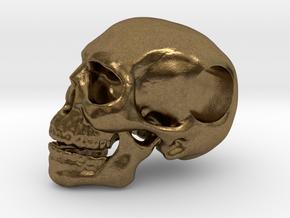 Hope Skull in Natural Bronze