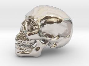 Hope Skull in Rhodium Plated Brass