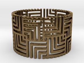 Nexus Ring (Size 7.25-11)  in Natural Bronze: 7.25 / 54.625