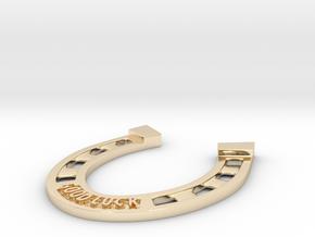 Golden Horseshoe in 14k Gold Plated Brass