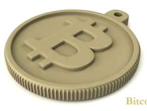 Bitcoin Keychain in White Processed Versatile Plastic