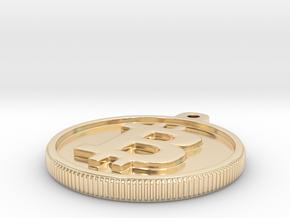 Bitcoin Keychain in 14K Yellow Gold