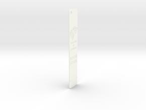 Stark Bookmark in White Processed Versatile Plastic: Medium
