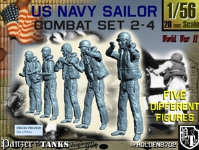 1-56 US Navy Sailors Combat SET 2-4 in Frosted Ultra Detail