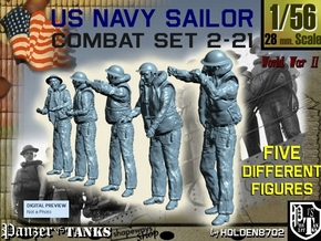 1-56 US Navy Sailors Combat SET 2-21 in Frosted Ultra Detail