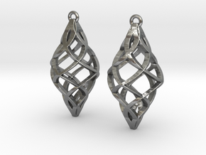 Capriccio Earrings in Natural Silver