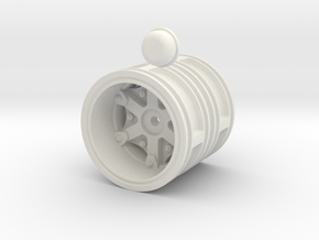 Rear-wheel-twin-tyre-set-with-6mm-deep-cap in White Natural Versatile Plastic