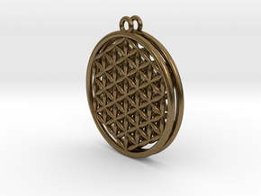 Flower Of Life Earrings in Natural Bronze