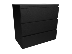 Malm 3 Drawers - IKEA in White Strong & Flexible: 1:24
