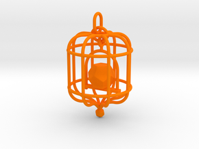 Platonic Birds - Dodecahedron in Orange Strong & Flexible Polished