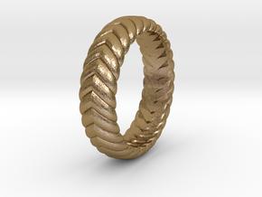 V Ring3  in Polished Gold Steel: 4.5 / 47.75