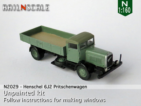 Henschel 6J2 Pritsche (N 1:160) in Smooth Fine Detail Plastic