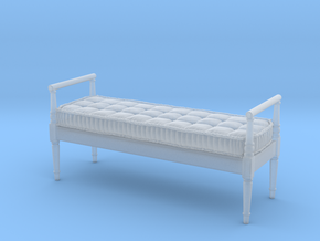 1:24 French Country Bench in Smooth Fine Detail Plastic