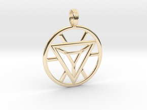 IRON MAN HEART REACTOR in 14k Gold Plated Brass