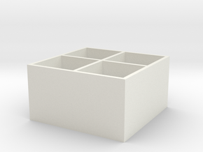 Miniature Bitrade Shelf Unit - Ikea in White Natural Versatile Plastic: 1:12