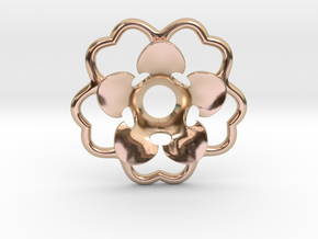 Rosette Collar Flower in 14k Rose Gold Plated Brass