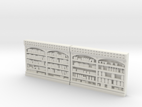 Store Shelving #3, Super Detailed O Scale  in White Natural Versatile Plastic
