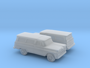 1/160 2X 1960-61  Chevrolet Suburban in Frosted Ultra Detail