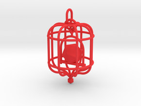 Platonic Birds - Icosahedron in Red Strong & Flexible Polished