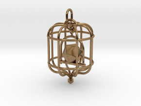 Platonic Birds - Icosahedron in Natural Brass (Interlocking Parts)