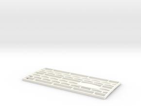 Grille D90 D110 Adventure 65 Team Raffee in White Processed Versatile Plastic