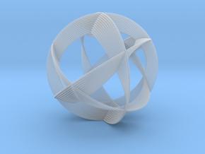 0404 Spherical Cuboctahedron (d=12cm) #005 in Smooth Fine Detail Plastic
