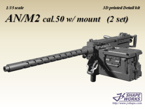1/35+ AN/M2 cal.50 w/ mount (2 set) in Smoothest Fine Detail Plastic: 1:35