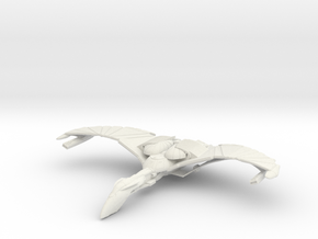 WarBird Raven Class HvyCruiser  Wings Up in White Natural Versatile Plastic