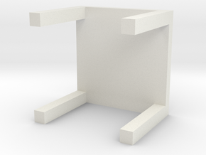 Miniature LACK Side Table - IKEA in White Natural Versatile Plastic: 1:12